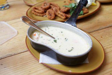Receita de Sopa Creme de Peixe - Sopa-creme-de-peixe-380x253