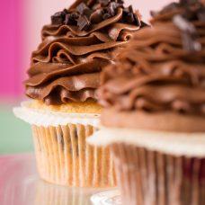 Cupcake de Laranja com Chocolate