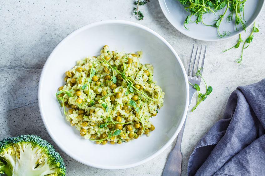 Receita de Risoto de Brócolis com Frango - Risoto-de-brócolis