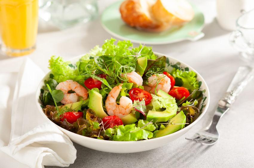Receita de Receitas com Abacate - Salada-de-abacate-com-camarao